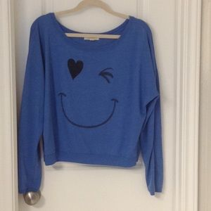 Happy Face Top Size Medium Cute Back Forever 21